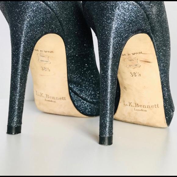 L.K.Bennett black patent peep toe heels size 39 | CATWALKGEE